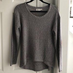 Stitch Fix RD Style Gray Sweater Elbow Patch Sz M